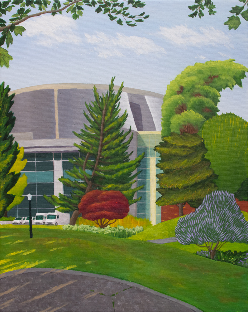 Cross Campus – landscape painting in Eugene